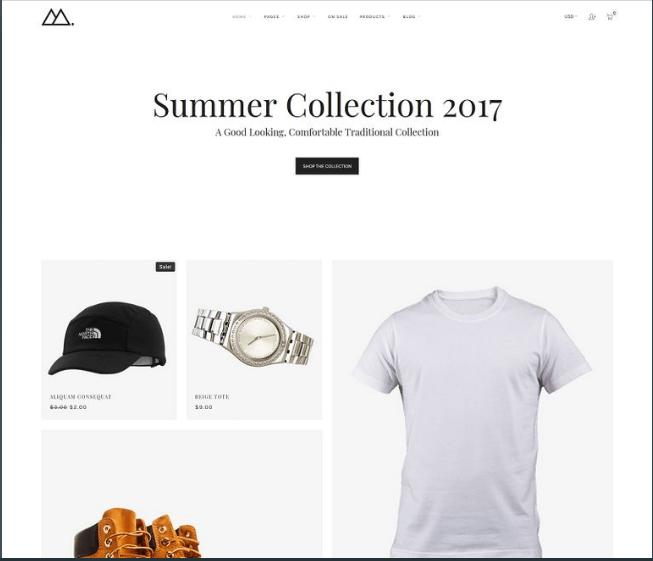 Mira – Minimal WooCommerce Theme