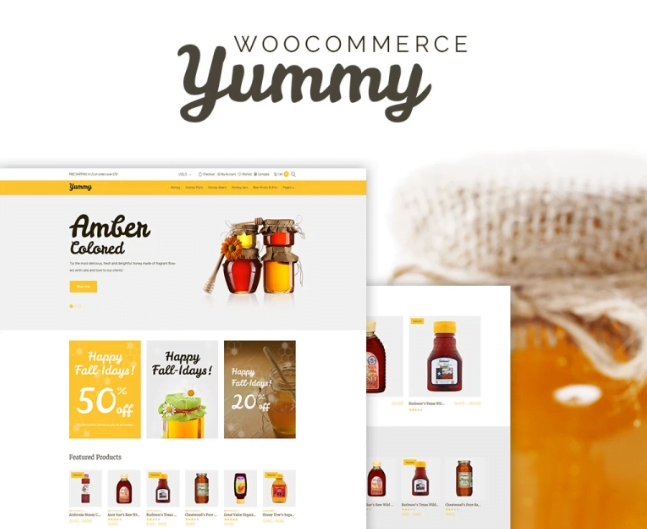 Screenshot_15 - Yummy Honey Store WooCommerce Shop Theme [year]