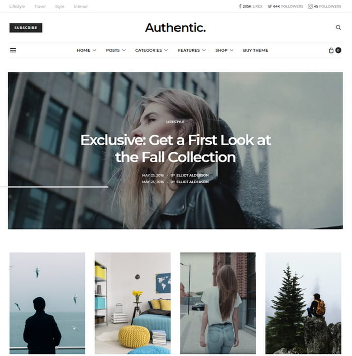 03 - 13 Fresh Minimalistic WordPress Blog Themes of 2018