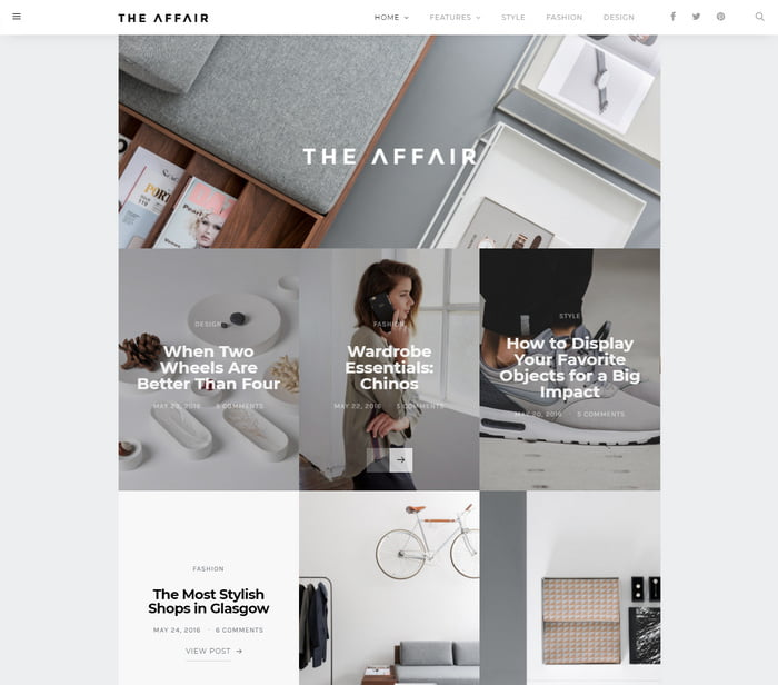 04 - 13 Fresh Minimalistic WordPress Blog Themes of 2019