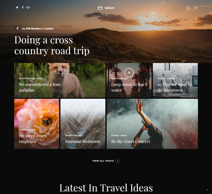10 - 13 Fresh Minimalistic WordPress Blog Themes of 2019