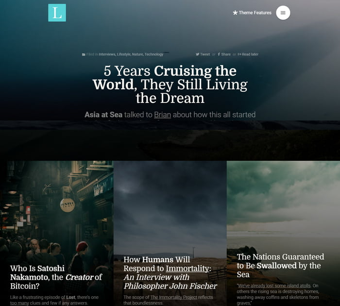 14 - 13 Fresh Minimalistic WordPress Blog Themes of 2019