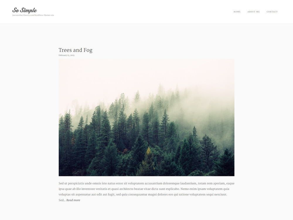 16 - 20 Free Minimalist WordPress Themes for Blogs, Portfolio Websites
