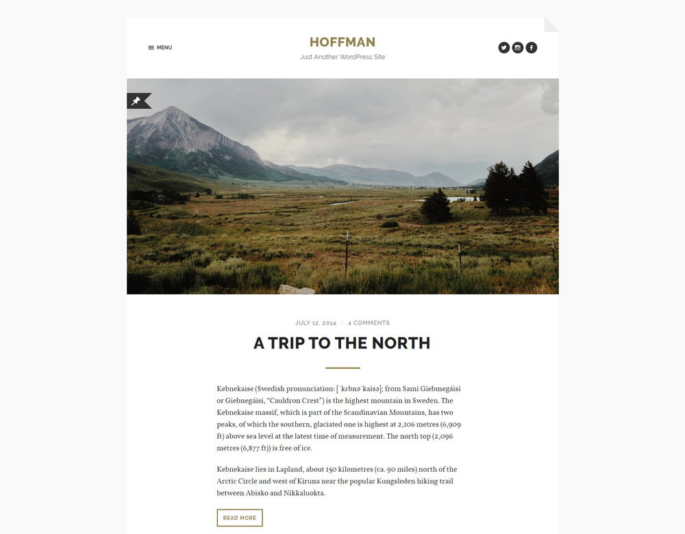 17 - 20 Free Minimalist WordPress Themes for Blogs, Portfolio Websites