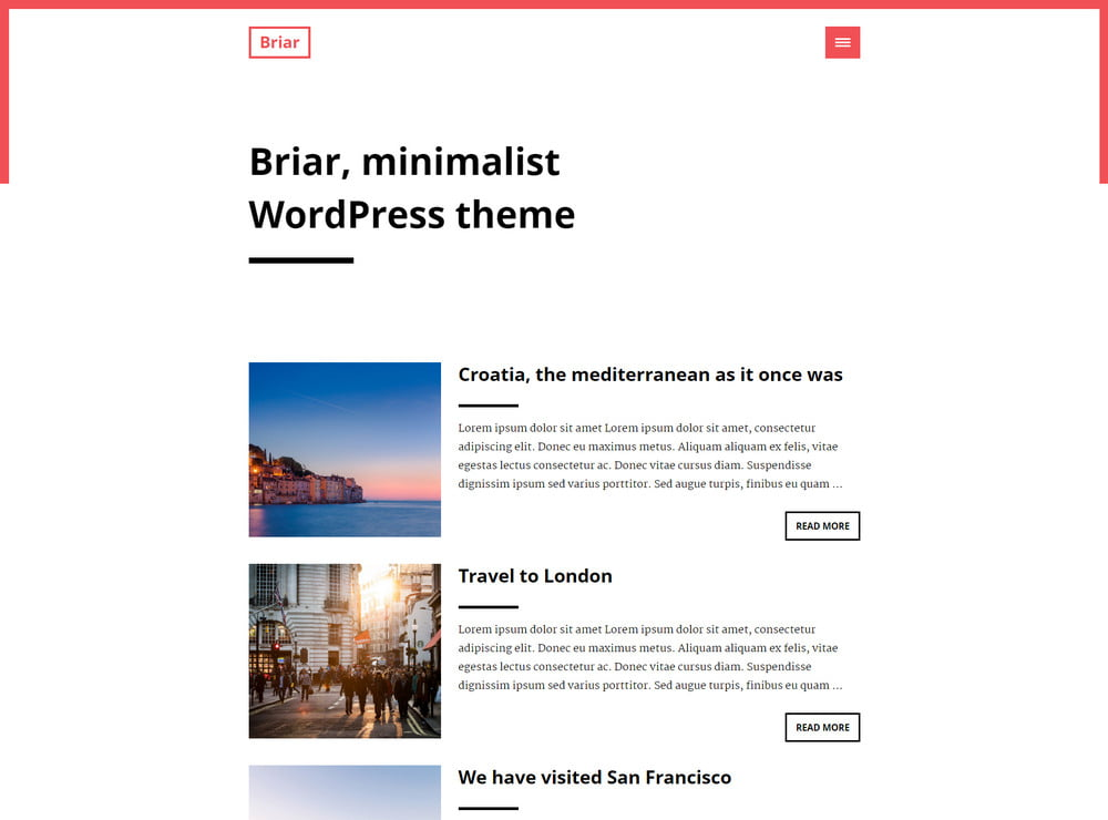 18 - 20 Free Minimalist WordPress Themes for Blogs, Portfolio Websites