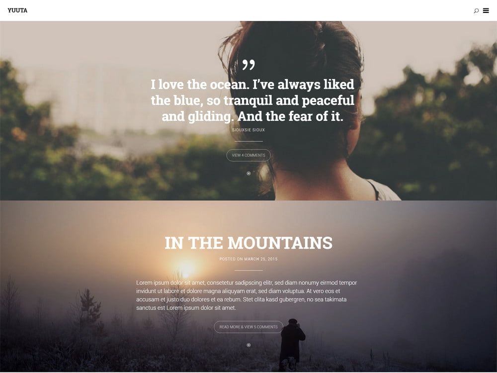 20 - 20 Free Minimalist WordPress Themes for Blogs, Portfolio Websites