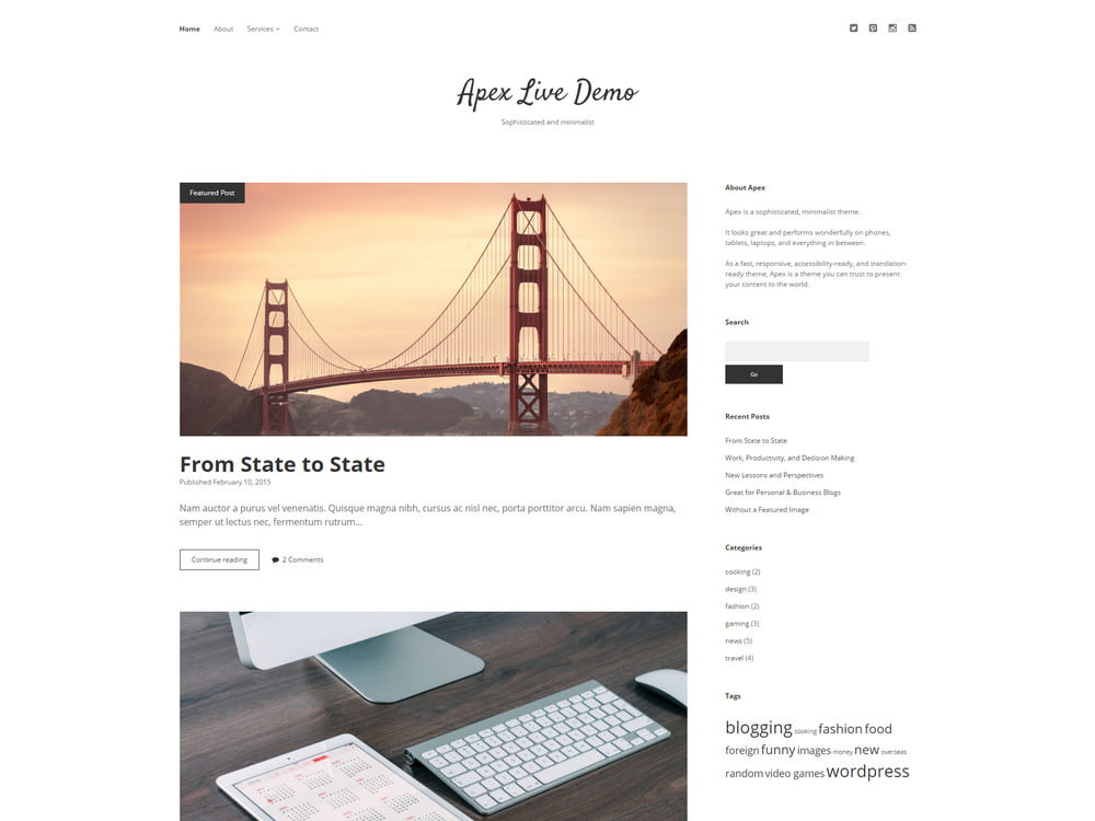 24 - 20 Free Minimalist WordPress Themes for Blogs, Portfolio Websites