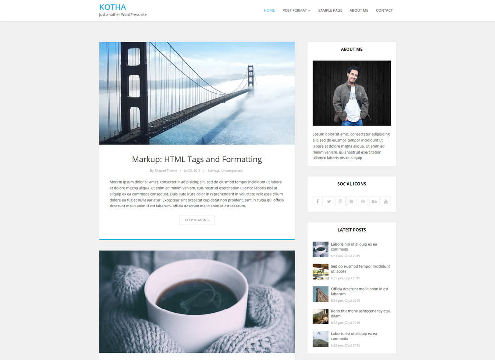 25 - 20 Free Minimalist WordPress Themes for Blogs, Portfolio Websites