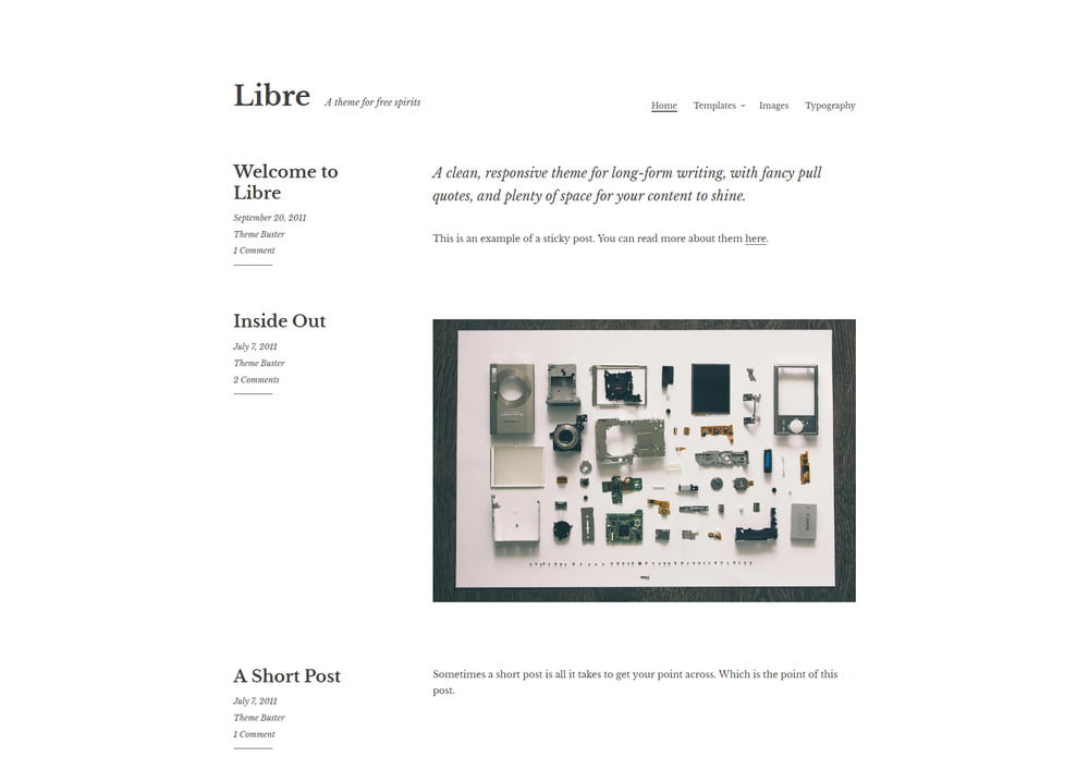 28 - 20 Free Minimalist WordPress Themes for Blogs, Portfolio Websites