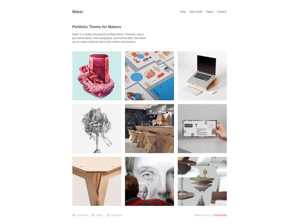 31 - 20 Free Minimalist WordPress Themes for Blogs, Portfolio Websites