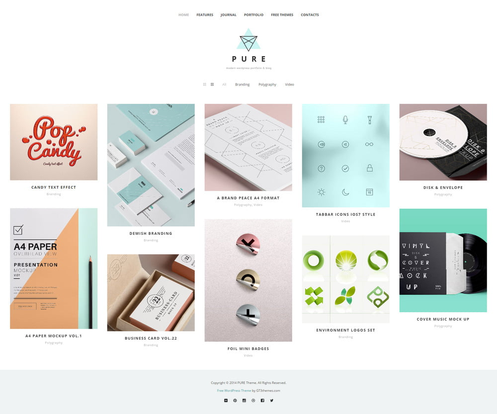 34 - 20 Free Minimalist WordPress Themes for Blogs, Portfolio Websites