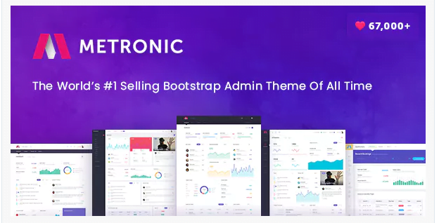 Metronic - 20+ BEST Free Bootstrap Admin Dashboard Themes [year]
