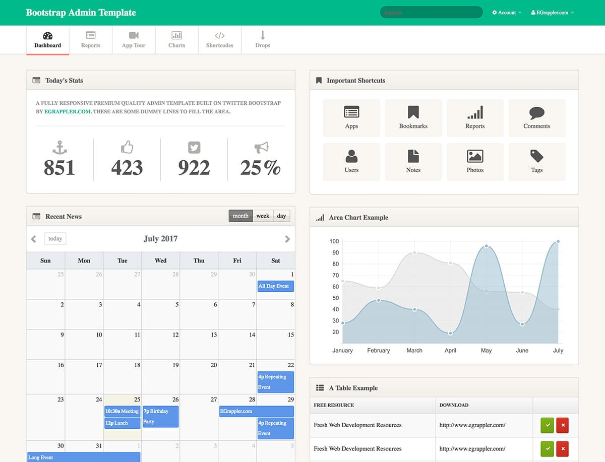 TemplateVamp-FREE-Admin-Template-1 - 20+ Best Free Bootstrap Admin Templates 2018
