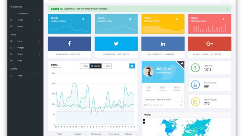 20+ Free Bootstrap Admin Dashboard Themes 2018