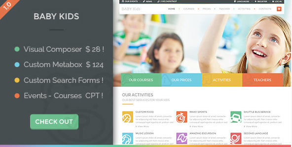 Baby-Kids-Education-Primary-School-For-Children - 30+ Top Sales Education WordPress Themes [year]