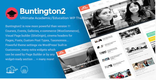 Buntington-Education-WP-Theme - 30+ Top Sales Education WordPress Themes [year]