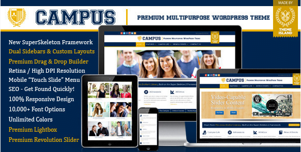 Campus-Multipurpose-WordPress-Theme - 30+ Top Sales Education WordPress Themes [year]