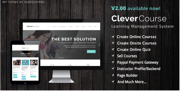 Clever-Course-Learning-Management-System-Theme - 30+ Top Sales Education WordPress Themes [year]