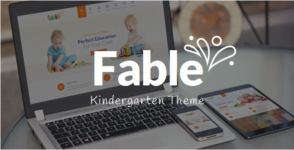 Fable-Children-Kindergarten-WordPress-Theme - 30+ Top Sales Education WordPress Themes [year]