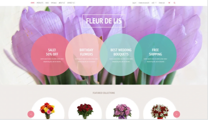 Fleur-de-lis-Shopify-Theme - 30+ Free & Paid Design & Photography Shopify Shopping Themes 2018