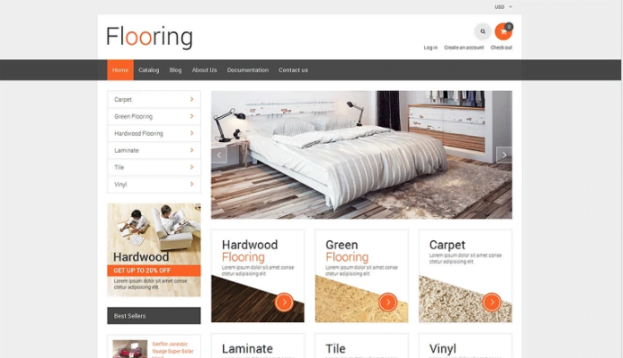 Flooring-Responsive-Shopify-Theme - 30+ Free & Paid Design & Photography Shopify Shopping Themes 2018
