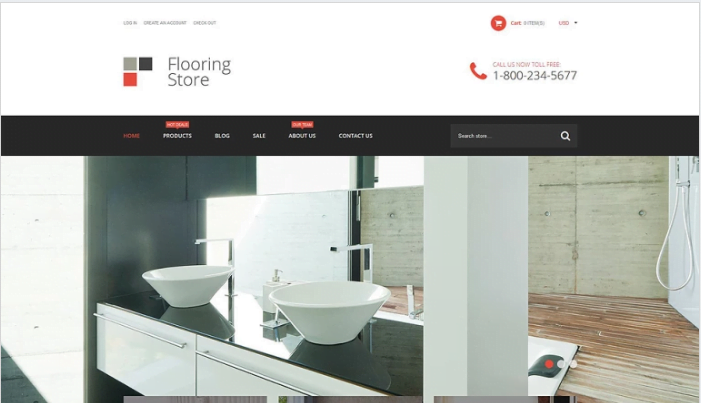 Flooring-Store-Shopify-Theme - 30+ Design & Photography Shopify Shopping Themes