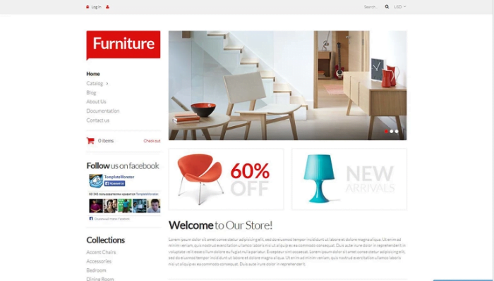 Furniture-Pieces-Shopify-Theme - 30+ Design & Photography Shopify Shopping Themes