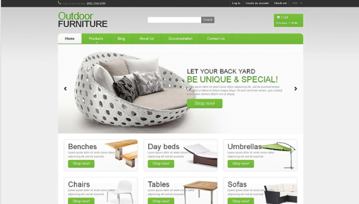 Furniture-Responsive-Shopify-Theme - 30+ Free & Paid Design & Photography Shopify Shopping Themes 2018