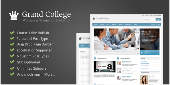 Grand-College-Wordpress-Theme-For-Education - 30+ Top Sales Education WordPress Themes [year]