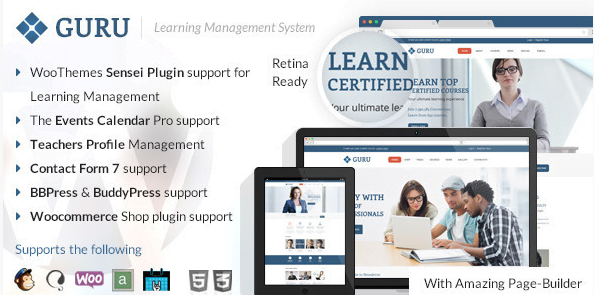 Guru-Learning-Management-WordPress-Theme - 30+ Top Sales Education WordPress Themes [year]