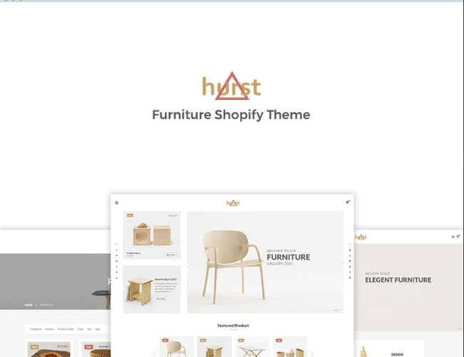 Hurst-Furniture-Shopify-Theme - 30+ Free & Paid Design & Photography Shopify Shopping Themes 2018