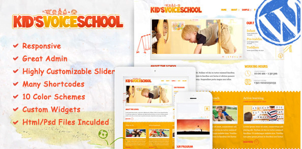 Kids-Voice-School-Responsive-WordPress-Theme - 30+ Top Sales Education WordPress Themes [year]