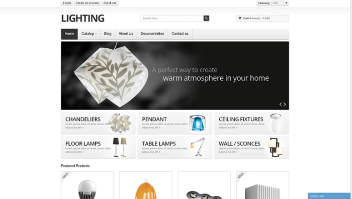 Lighting-Shopify-Theme - 30+ Free & Paid Design & Photography Shopify Shopping Themes 2018