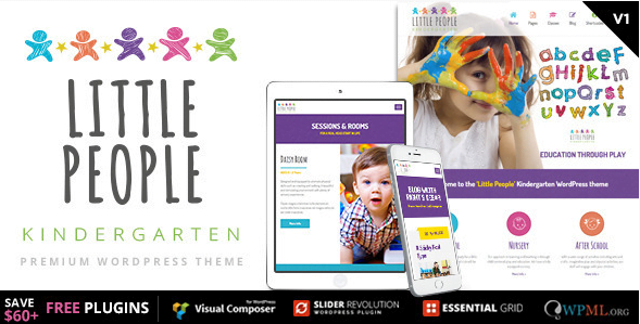 Little-People-Kindergarten-WordPress-Theme-for-PreScool-and-infants-nurseries-and-play-school - 30+ Top Sales Education WordPress Themes [year]