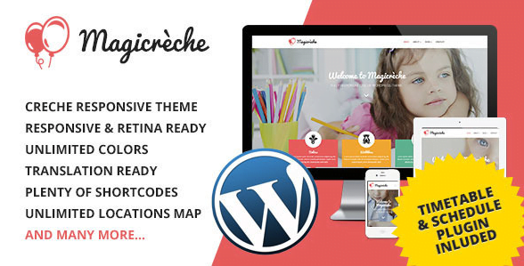 Magicreche-Responsive-Crèche-WordPress-Theme - 30+ Top Sales Education WordPress Themes [year]