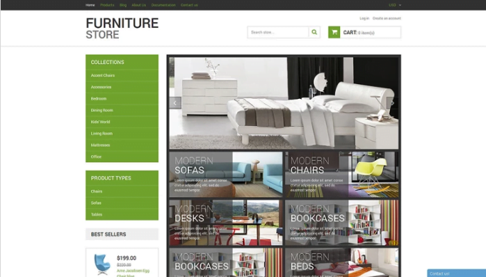 Modern-Furniture-Shopify-Theme - 30+ Design & Photography Shopify Shopping Themes