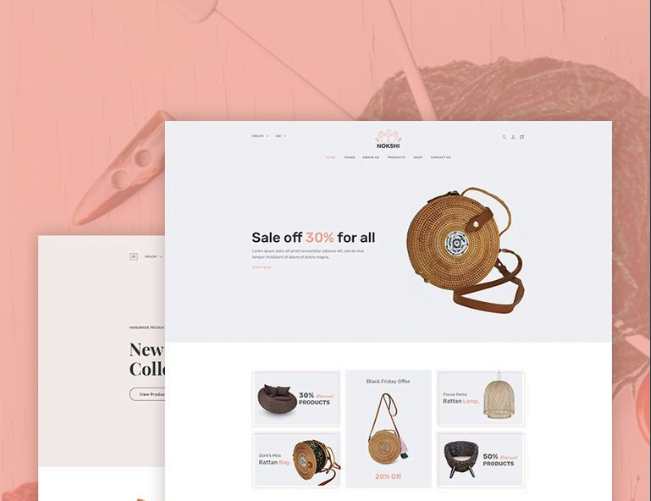 Nokshi-Handmade-Craft-Shopify-Theme - 30+ Free & Paid Design & Photography Shopify Shopping Themes 2018