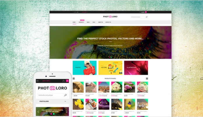 PhotoLoro-Shopify-Theme - 30+ Free & Paid Design & Photography Shopify Shopping Themes 2018