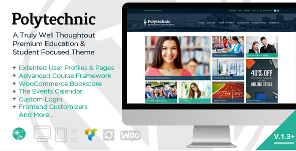 Polytechnic-Powerful-Education-Courses-Events - 30+ Top Sales Education WordPress Themes [year]