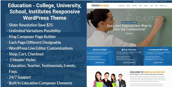Screenshot_9 - 30+ Top Rating Education WordPress Themes 2018