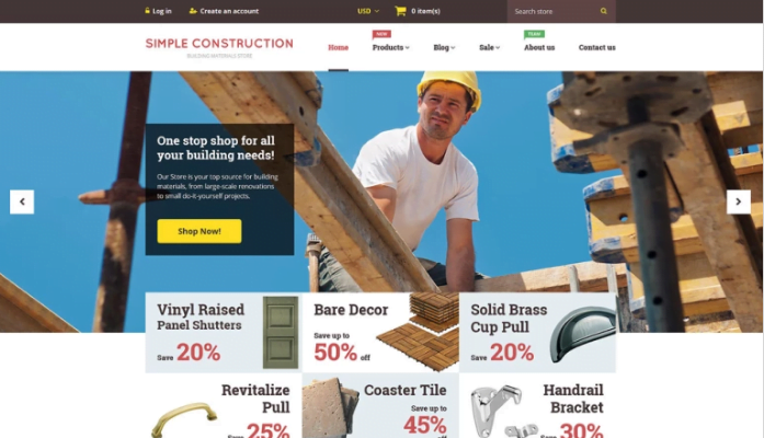 Simple-Construction-Shopify-Theme - 30+ Design & Photography Shopify Shopping Themes