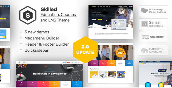 Skilled-School-Education-Courses-WordPress-Theme - 30+ Top Sales Education WordPress Themes [year]