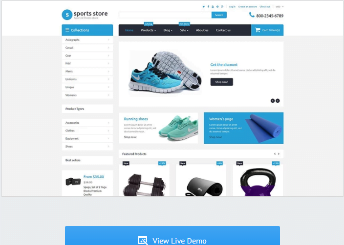Sports-Store - 30+ Free & Paid Design & Photography Shopify Shopping Themes 2018
