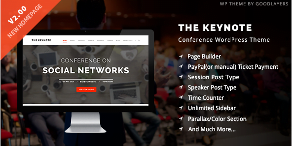 The-Keynote-Conference-Event-Meeting-WordPress-Theme - 30+ Top Sales Education WordPress Themes [year]