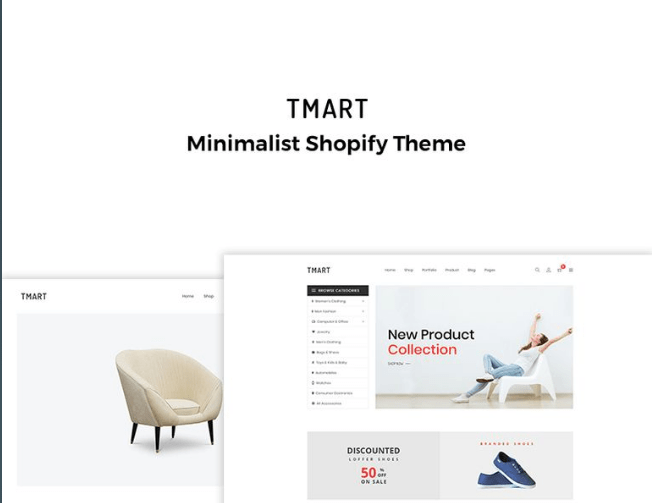 Tmart-Minimalist-Shopify-Theme - 30+ Free & Paid Design & Photography Shopify Shopping Themes 2018