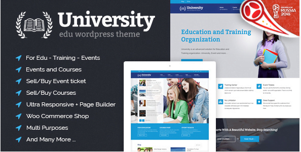 University-Education-Event-and-Course-Theme - 30+ Top Sales Education WordPress Themes [year]