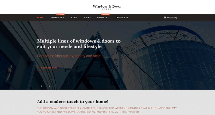 Windows-and-Doors-Store-Shopify-Theme - 30+ Design & Photography Shopify Shopping Themes