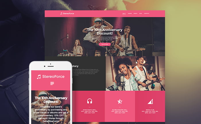 58988-big - 5 Premium WordPress Templates for Music Websites
