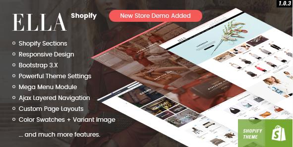 Ella Responsive Shopify Shop Template - TalkElement