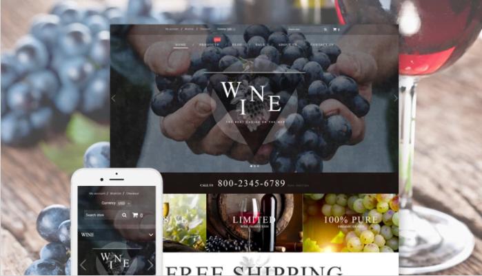 Wine-Wine-Shop-Responsive-Shopify-Theme - Wine Shop Responsive Shopify Theme [year]